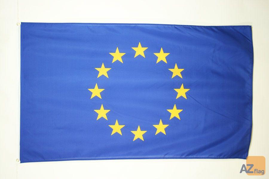 DRAPEAU EUROPE 150x90cm - DRAPEAU EUROPÉEN 90 x 150 cm - DRAPEAUX