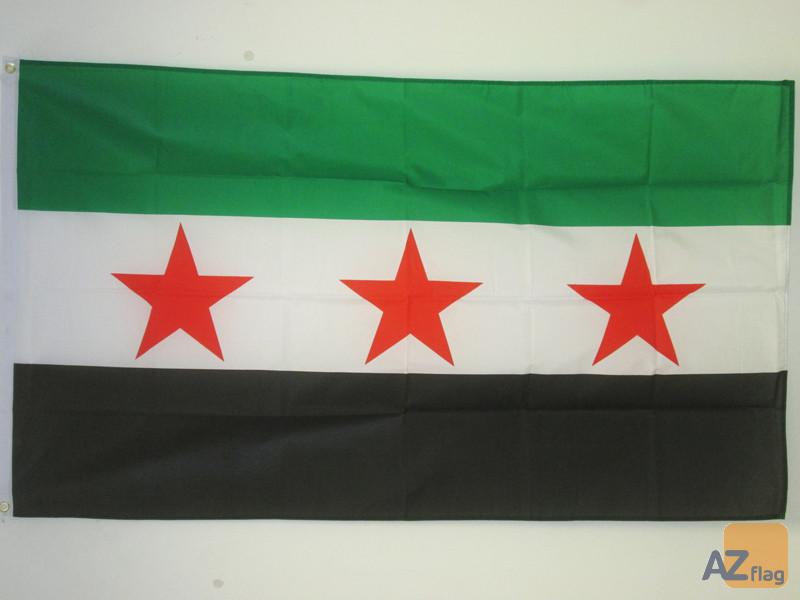 DRAPEAU SYRIE - ARMÍ?E SYRIENNE LIBRE 90x60cm - DRAPEAU SYRIEN 60 x 90 cm - DRAPEAUX