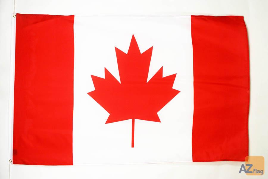 DRAPEAU CANADA 180x120cm Polyester léger - GRAND DRAPEAU CANADIEN 120 x 180 cm