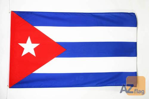 DRAPEAU CUBA 150x90cm - DRAPEAU CUBAIN 90 x 150 cm