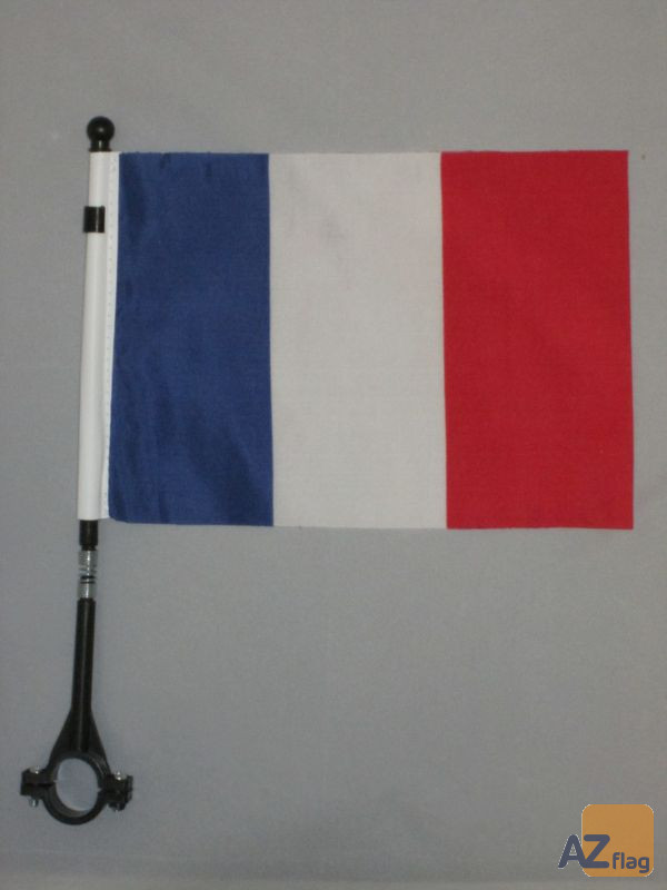 DRAPEAU DE VELO FRANCE 21x14cm - PETIT BIKE FLAG FRANÇAIS 14 x 21 cm