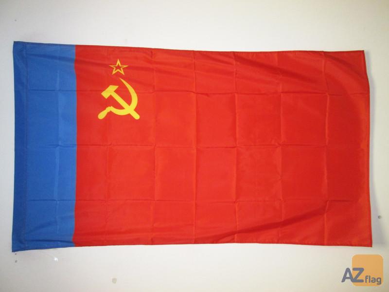 DRAPEAU RUSSIE RSFSR 1954-1991 90x60cm - DRAPEAU DE LA RSFSR EN URSS 60 x 90 cm Fourreau pour hampe