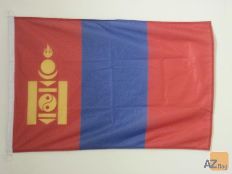 DRAPEAU MONGOLIE 90x60cm - DRAPEAU MONGOL 60 x 90 cm Spécial Extérieur - DRAPEAUX