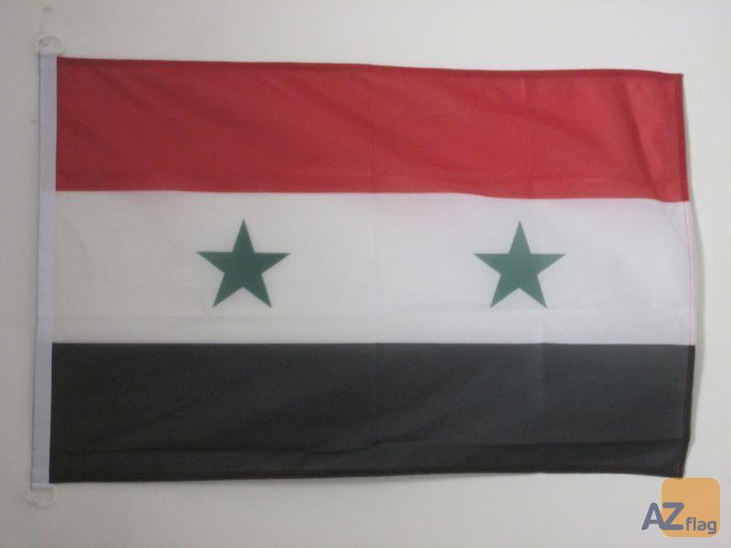 DRAPEAU SYRIE 90x60cm - DRAPEAU SYRIEN 60 x 90 cm Spécial Extérieur - DRAPEAUX