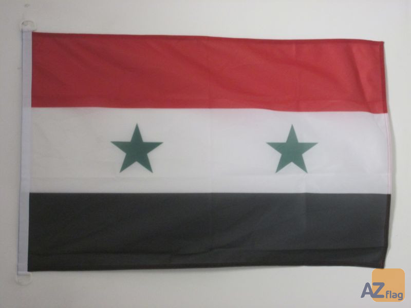 PAVILLON NAUTIQUE SYRIE 45x30cm - DRAPEAU DE BATEAU SYRIEN 30 x 45 cm