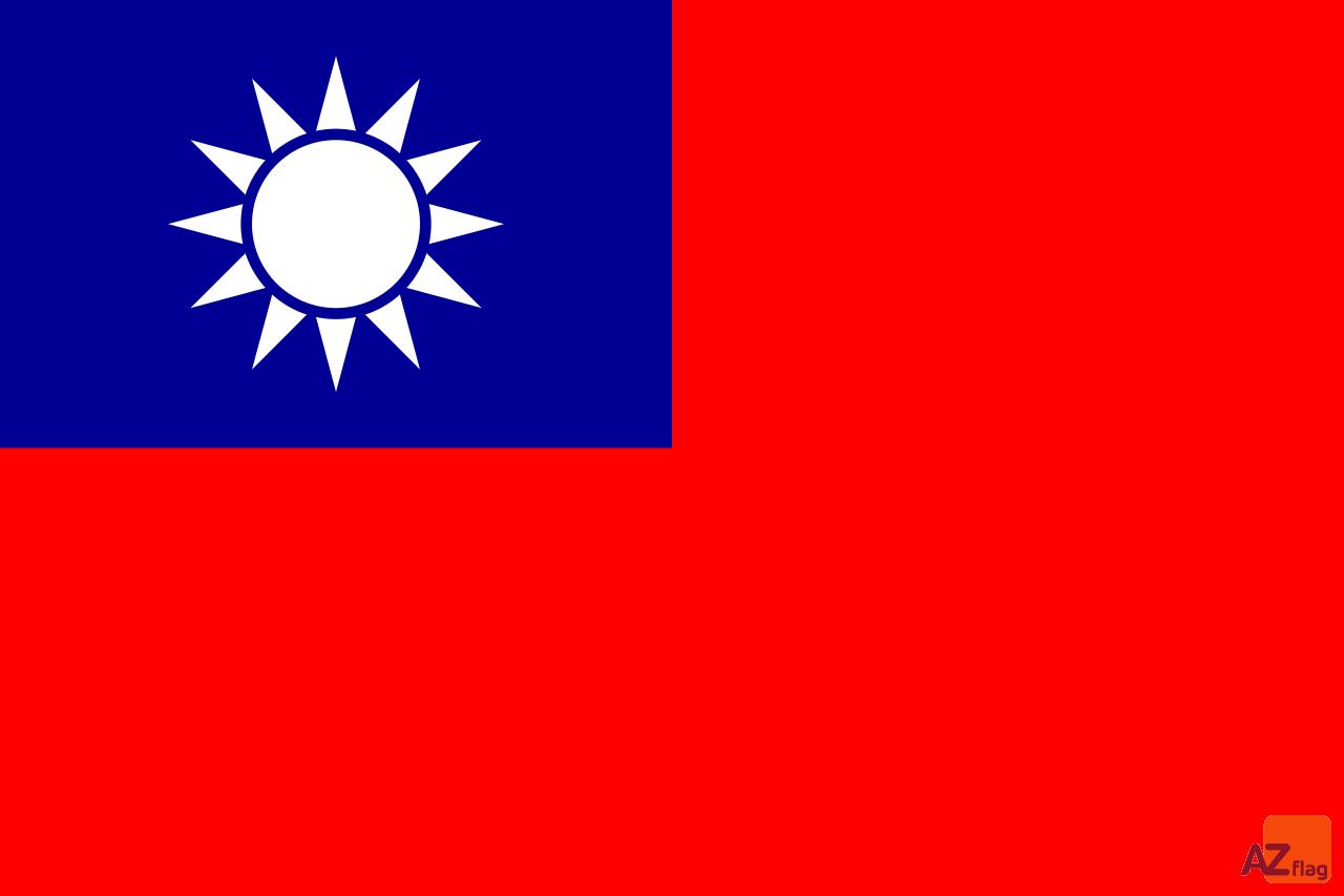DRAPEAU TAIWAN 90x60cm - DRAPEAU TAÏWANAIS 60 x 90 cm Spécial Extérieur - DRAPEAUX