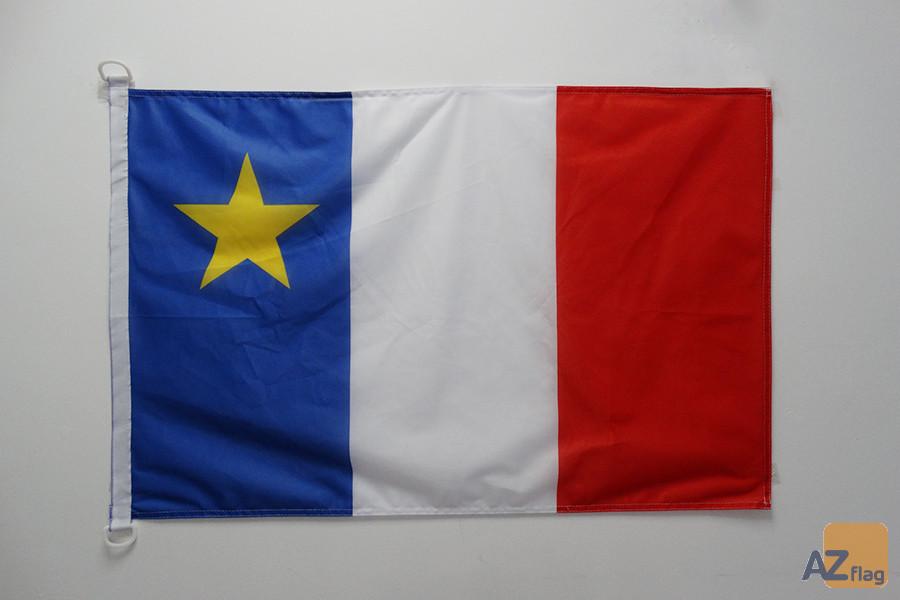 Pavillon nautique Acadie 45x30cm - Drapeau de bateau acadien - Canada 30 x 45 cm