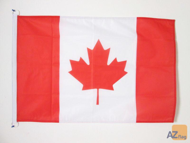 DRAPEAU CANADA 150x90cm oeillets - DRAPEAU CANADIEN 90 x 150 cm Spécial Extérieur - DRAPEAUX