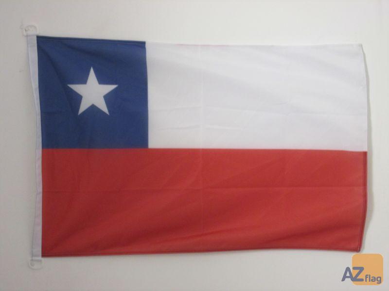 PAVILLON NAUTIQUE CHILI 45x30cm - DRAPEAU DE BATEAU CHILIEN 30 x 45 cm