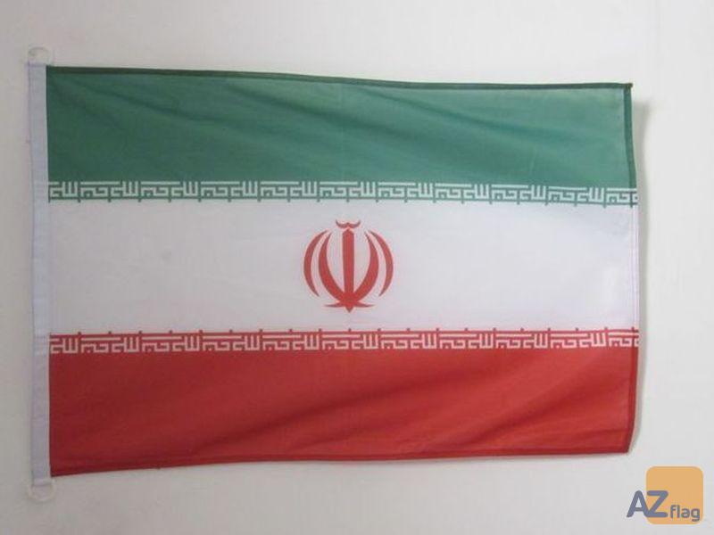 PAVILLON NAUTIQUE IRAN 45x30cm - DRAPEAU DE BATEAU IRANIEN 30 x 45 cm