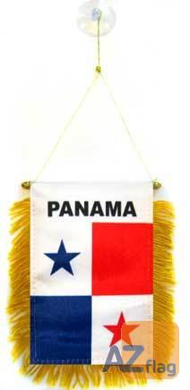 FANION PANAMA 15x10cm - Mini drapeau PANAMÉEN 10 x 15 cm spécial voiture - Bannière