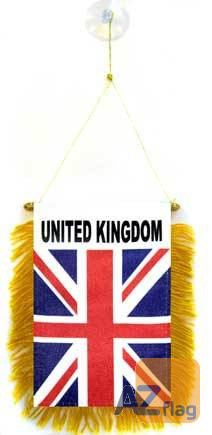 FANION ROYAUME-UNI 15x10cm - Mini drapeau ANGLAIS - UK - GRANDE BRETAGNE 10 x 15 cm spécial voiture - Bannière