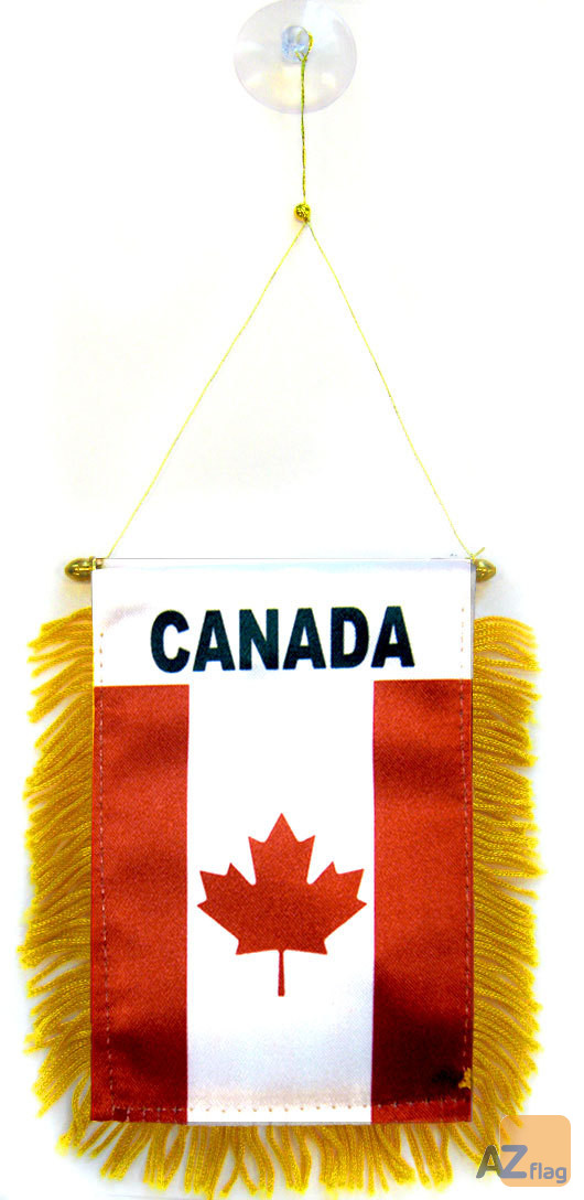 FANION CANADA 15x10cm - Mini drapeau CANADIEN 10 x 15 cm spécial voiture - Bannière