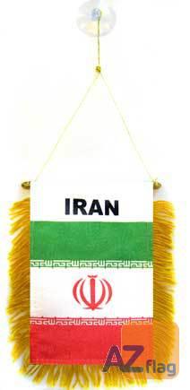 FANION IRAN 15x10cm - Mini drapeau IRANIEN 10 x 15 cm spécial voiture - Bannière
