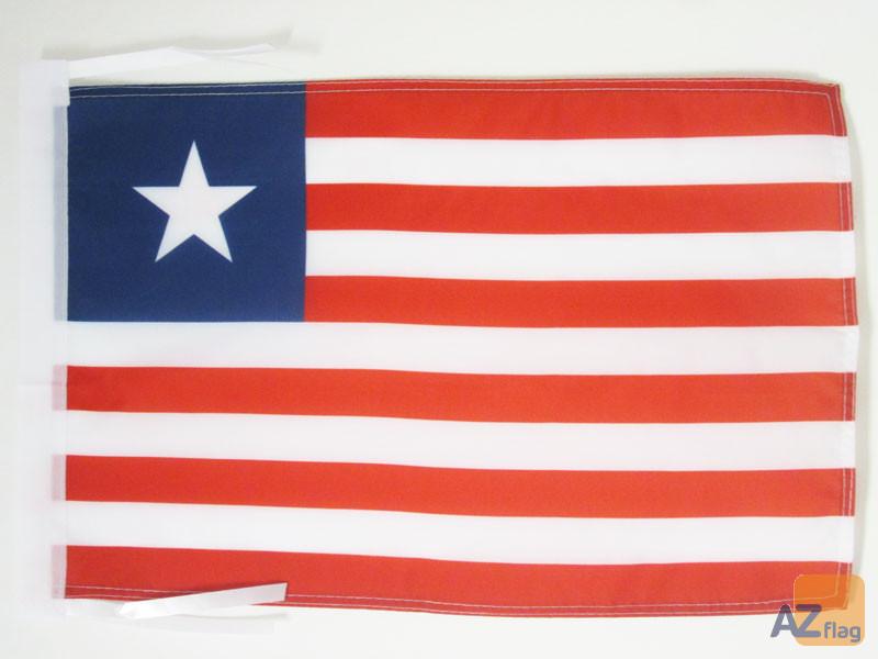 DRAPEAU LIBÉRIA 45x30cm - PAVILLON LIBÉRIEN 30 x 45 cm haute qualité