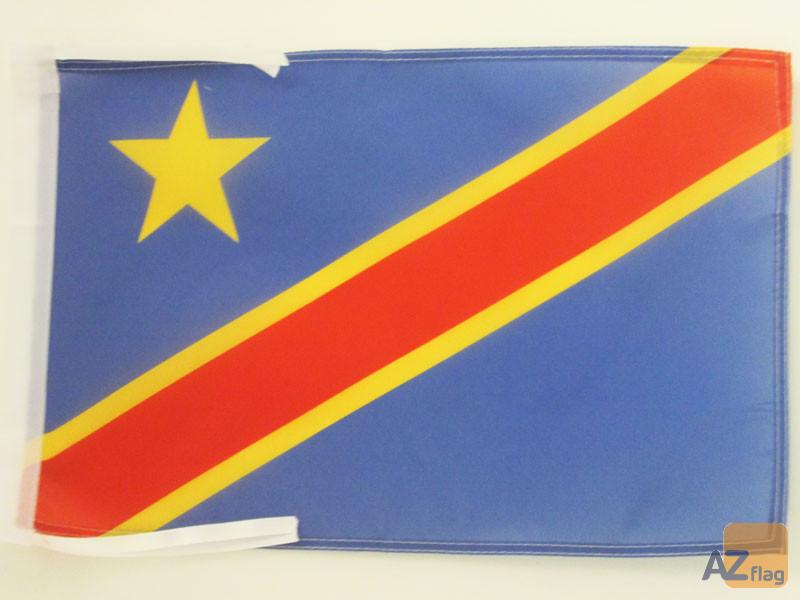 DRAPEAU RÉPUBLIQUE DÉMOCRATIQUE DU CONGO 45x30cm - PAVILLON CONGOLAIS 30 x 45 cm haute qualité