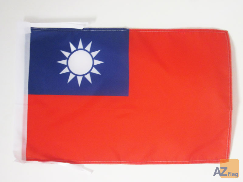 DRAPEAU TAIWAN 45x30cm - PAVILLON TAÏWANAIS 30 x 45 cm haute qualité
