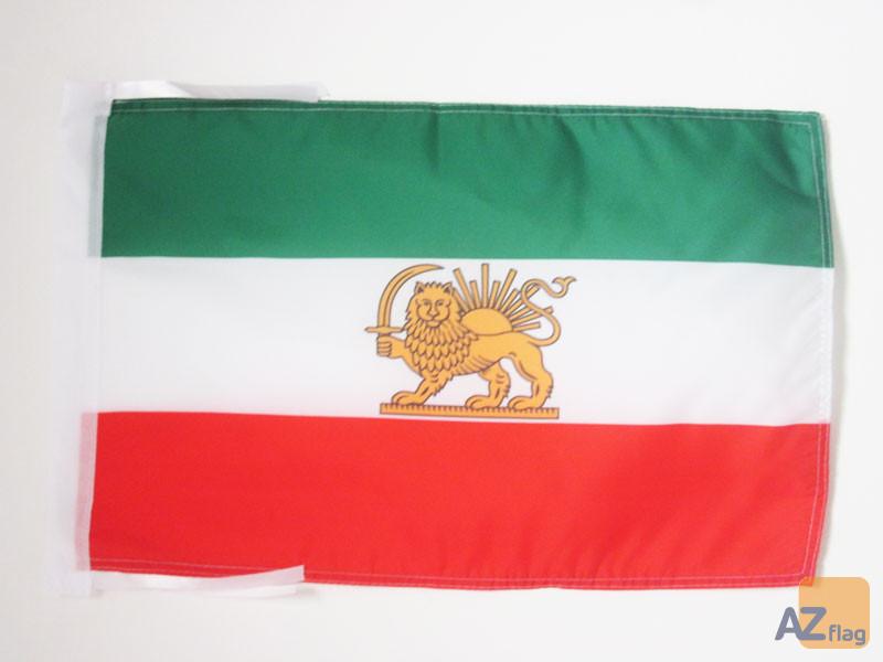 DRAPEAU IRAN ANCIEN 45x30cm - PAVILLON IRANIEN 30 x 45 cm haute qualité