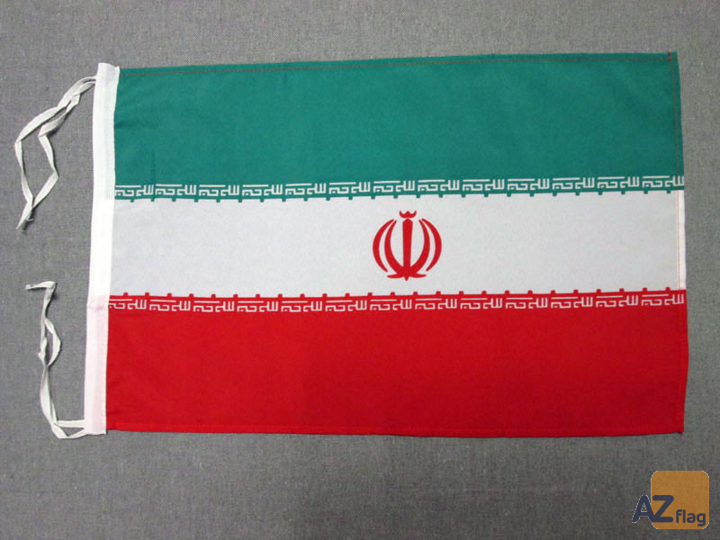DRAPEAU IRAN 45x30cm - PAVILLON IRANIEN 30 x 45 cm polyester léger