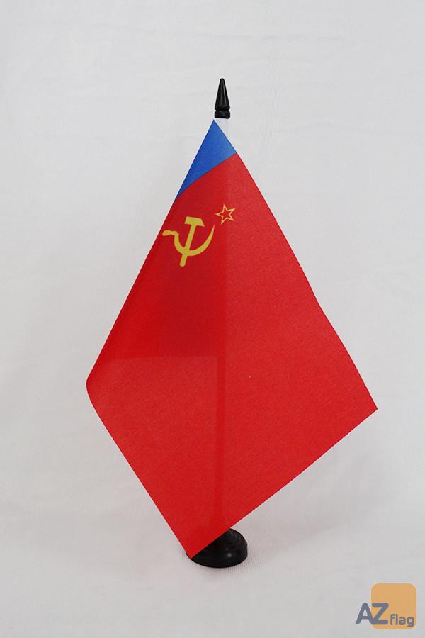 Drapeau de table Russie RSFSR 1954-1991 21x14cm - PETIT Drapeaux DE BUREAU de la RSFSR en URSS 14 x 21 cm