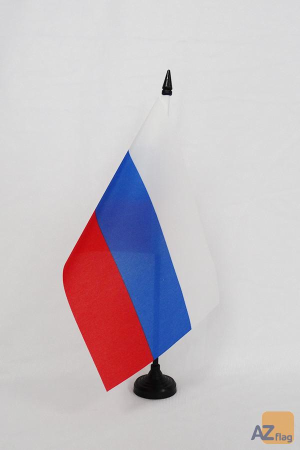 Drapeau de table Russie RSFSR 1991-1993 21x14cm - PETIT Drapeaux DE BUREAU de la RSFSR 14 x 21 cm