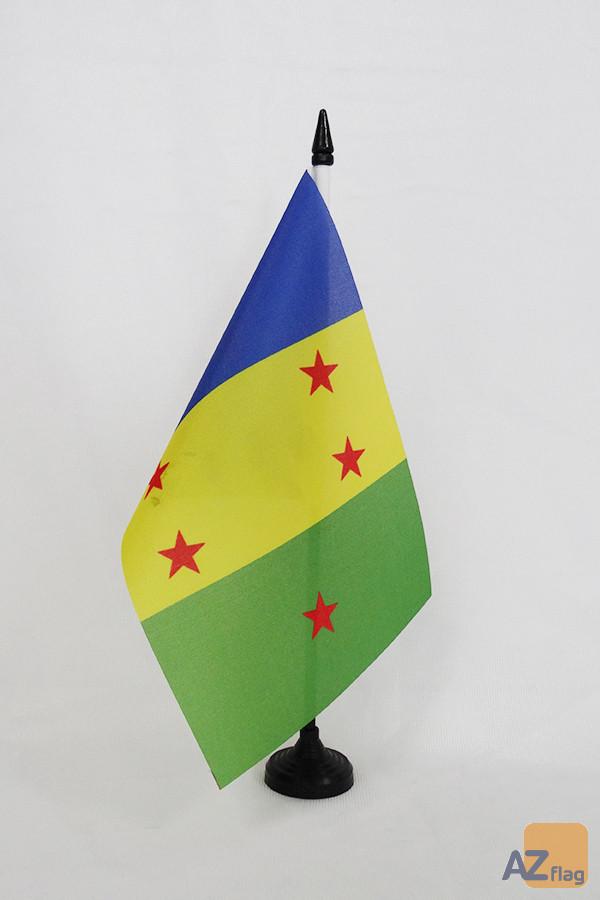 Drapeau de table Ogonis du Nigeria 21x14cm - PETIT Drapeaux DE BUREAU de la communauté Ogoni 14 x 21 cm