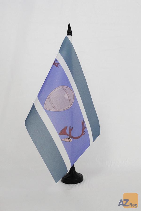 Drapeau de table Innus du Québec et Labrador 21x14cm - PETIT Drapeaux DE BUREAU Montagnais-Naskapis Innu 14 x 21 cm