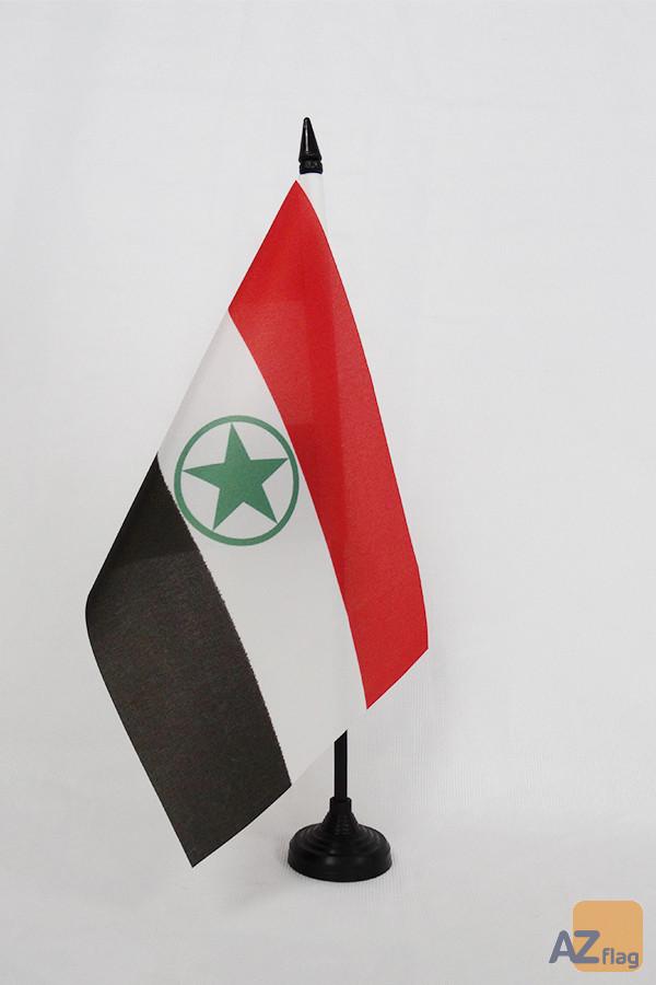 Drapeau de table Arabes d\'Iran 21x14cm - PETIT Drapeaux DE BUREAU du Khuzestan 14 x 21 cm