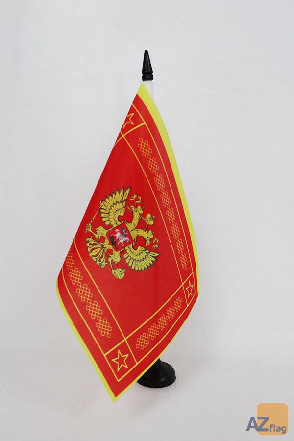 Drapeau de table Forces armées de la Fédération de Russie 21x14cm - PETIT Drapeaux DE BUREAU de l\'armée russe 14 x 21 cm