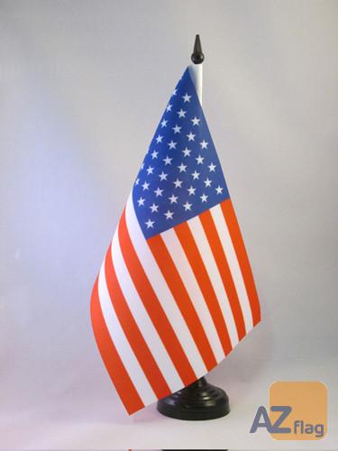 DRAPEAU DE TABLE ETATS-UNIS 21x14cm - PETIT DRAPEAUX DE BUREAU AMÉRICAIN - USA 14 x 21 cm