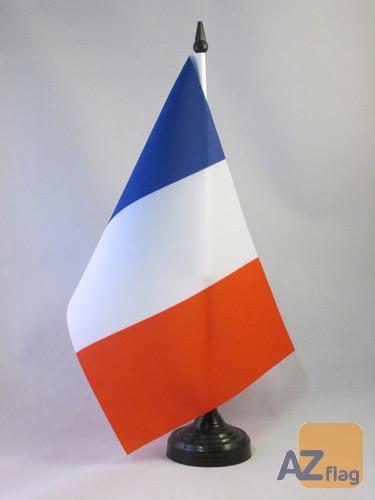 DRAPEAU DE TABLE FRANCE 21x14cm - PETIT DRAPEAUX DE BUREAU FRANÇAIS 14 x 21 cm