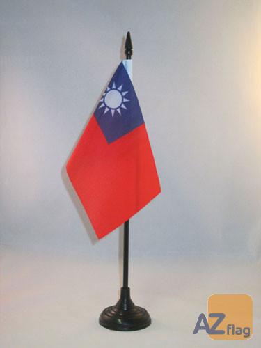 DRAPEAU DE TABLE TAIWAN 15x10cm - PETIT DRAPEAUX DE BUREAU TAÏWANAIS 10 x 15 cm