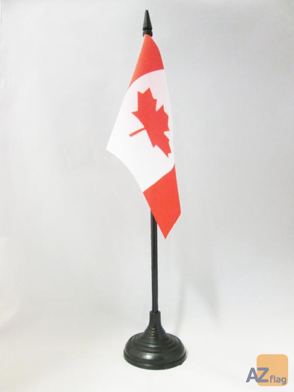 DRAPEAU DE TABLE CANADA 15x10cm - PETIT DRAPEAUX DE BUREAU CANADIEN 10 x 15 cm