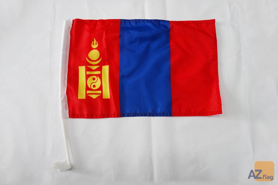 Drapeau de voiture Mongolie 45x30cm - Carflag mongol 30 x 45 cm