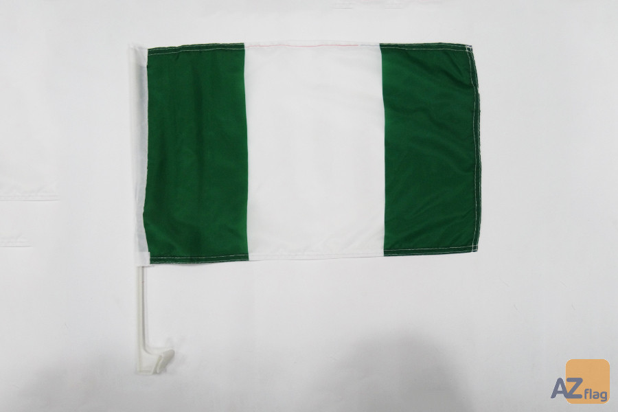 Drapeau de voiture Nigéria 45x30cm - Carflag nigérian 30 x 45 cm