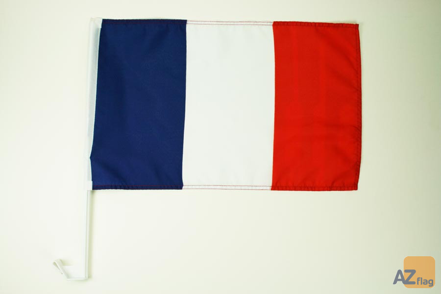 Drapeau de voiture FRANCE 45x30cm - Carflag FRANÇAIS 30 x 45 cm