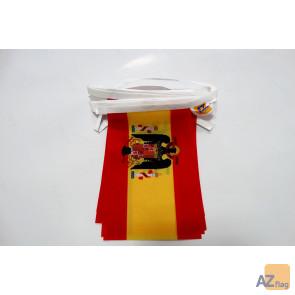 Guirlande 6 mètres 20 Drapeaux Espagne franquiste 1945-1977 21x15 cm - Drapeau espagnol de Franco 15 x 21 cm