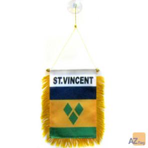 FANION SAINT VINCENT 15x10cm - Mini drapeau SAINT-VINCENTAIS 10 x 15 cm spécial voiture - Bannière