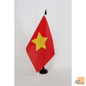 Drapeau de table Nord-Viêtnam 1945-1955 21x14cm - PETIT Drapeaux DE BUREAU du Viet Minh 14 x 21 cm