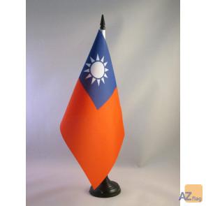 DRAPEAU DE TABLE TAIWAN 21x14cm - PETIT DRAPEAUX DE BUREAU TAÏWANAIS 14 x 21 cm