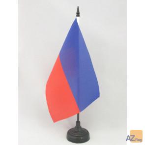 DRAPEAU DE TABLE HAÏTI CIVIL 21x14cm - PETIT DRAPEAUX DE BUREAU HAÏTIEN 14 x 21 cm