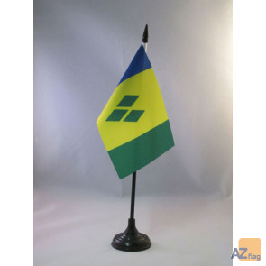 DRAPEAU DE TABLE SAINT VINCENT 15x10cm - PETIT DRAPEAUX DE BUREAU SAINT-VINCENTAIS 10 x 15 cm