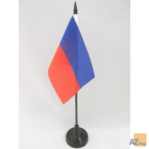 DRAPEAU DE TABLE HAÏTI CIVIL 15x10cm - PETIT DRAPEAUX DE BUREAU HAÏTIEN 10 x 15 cm