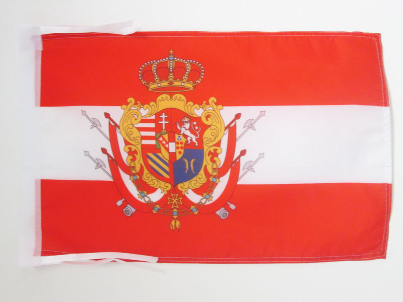 Piccola BANDIERINA Toscana AZ FLAG Bandiera da Tavolo GRANDUCATO di Toscana 1569-1859 21x14cm Italia 14 x 21 cm
