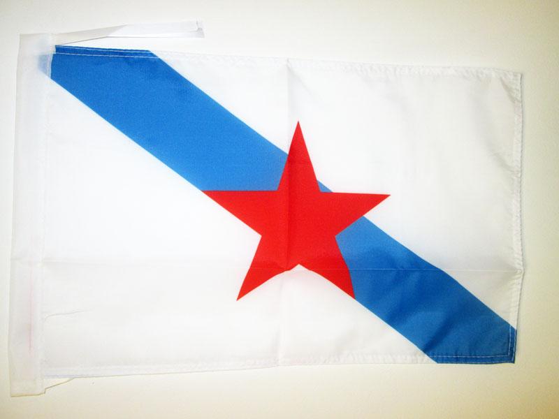 Espagne 30 x 45 cm Carflag de Galicia AZ FLAG Drapeau de Voiture Galice 45x30cm